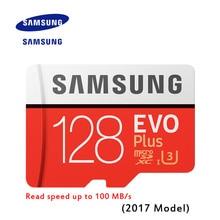 New Product Original SAMSUNG EVO Memory Card Micro SD TF Card 128GB Class10 U3 4K HD Read speed up to 100 MB/s (2017 Model)