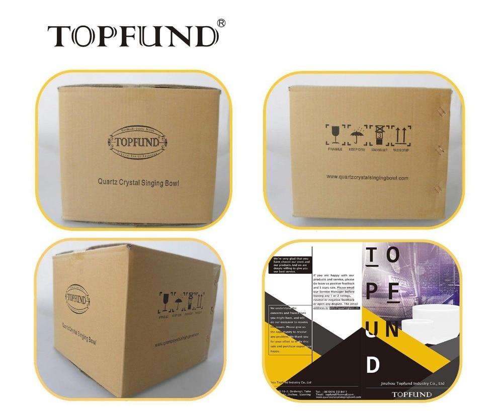 TOPFUND E Note Solar Plexus Chakra Yellow Full Handle Clear Quartz Crystal Singing Bowl 7 inch