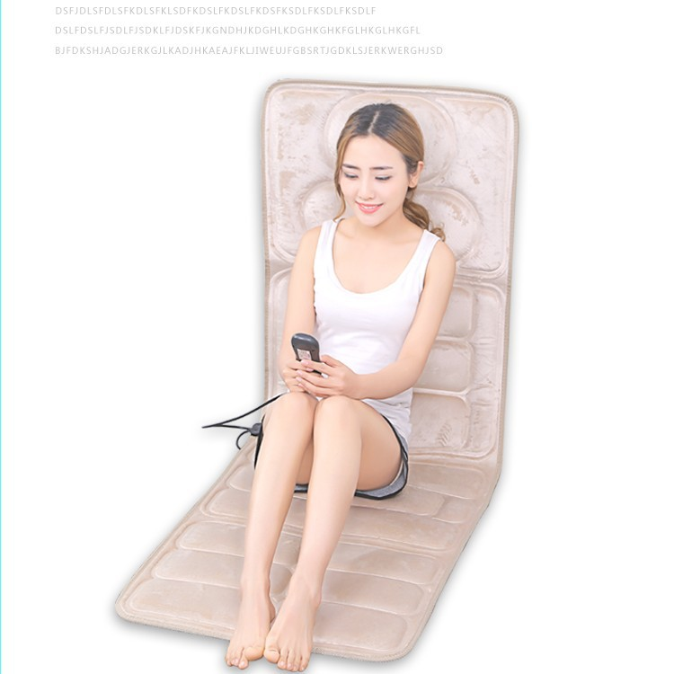 Cervical vertebra massager multifunctional body neck waist shoulder back massage cushion home massage mattress cushion electric full body multifunctional massage mattress vibration massage device massage cushion infrared full body massager