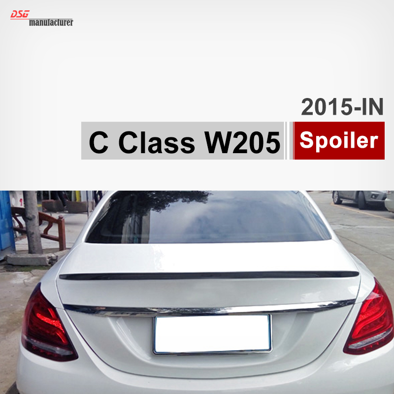 Mercedes C class w205 cf carbon fiber rear spoiler trunk wings for benz 2015 2016 C180