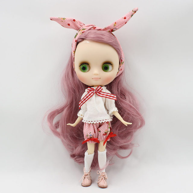 Free shipping summer wear with head band suitable for middle blyth 20cm high doll Bjd DIY fashion toy's accessiories