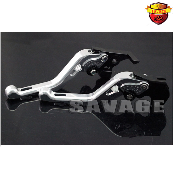ФОТО For YAMAHA MT-03 2005-2009 Silver Motorcycle Accessories CNC Aluminum Short Brake Clutch Levers