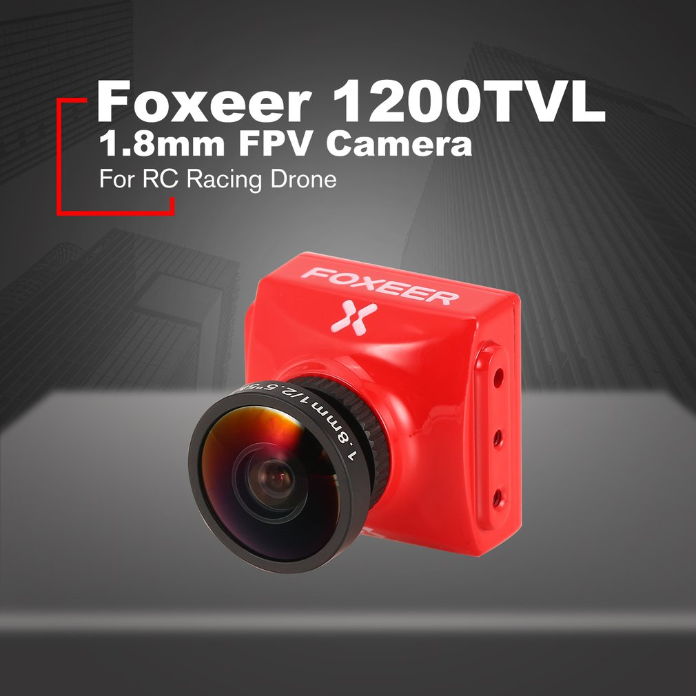 Foxeer Falkor FPV Camera 1.8/2.5mm 1200TVL 1/3 CMOS 4:3 / 16:9 PAL / NTSC Switchable G-WDR OSD For RC Racing Drone