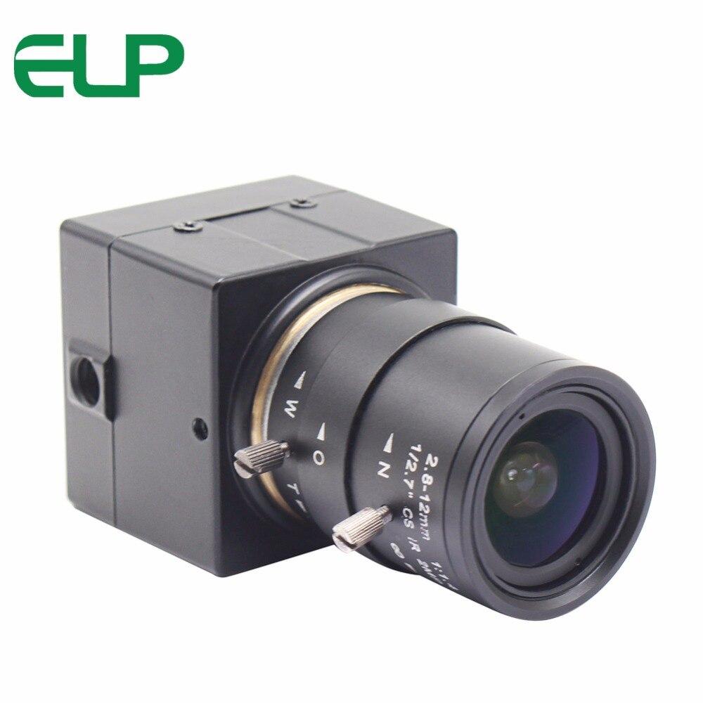 Elp 1MP 2.8-12 мм ручной варифокальным видеонаблюдения Мини CMOS OV9712 аудио-видео веб-камера HD с микрофоном Микрофон для компьютера PC ноутбук