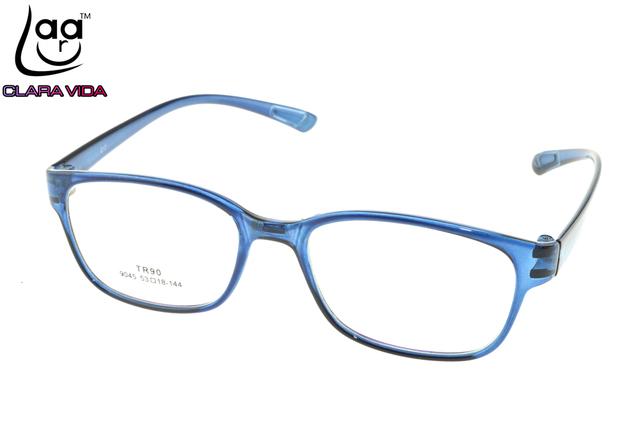 Memoria TR90 Ultra-Ligero de Gran Azul Tendencia Gafas Nerd Marco Por Encargo Óptico Prescription Miopía Gafas Fotocromáticas-1 A 6