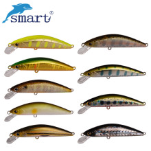 Купить с кэшбэком Smart 45mm/3.1g Minnow Lures Sinking Swimbait Fishing Wobblers Iscas Artificiais Para Pesca Leurre Souple Fishing Tackle Lures