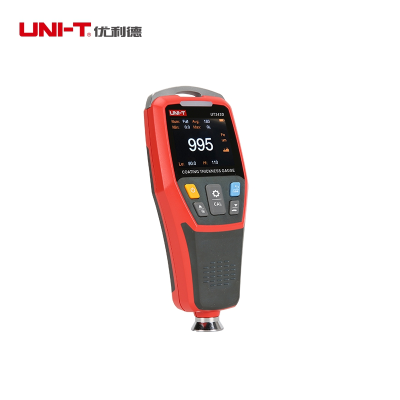 UNI-T Portable Digital Coating Thickness Gauge 0-1250um LCD Auto Car Paint Film Thickness Meter USB Data Storage Recorder UT343DUNI-T Portable Digital Coating Thickness Gauge 0-1250um LCD Auto Car Paint Film Thickness Meter USB Data Storage Recorder UT343D