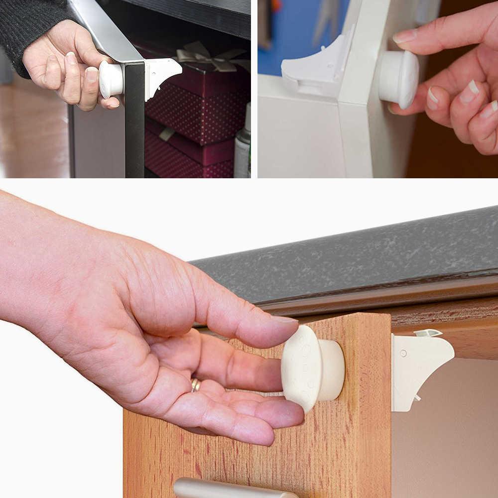 4Pcs/12Pcs Child Cabinet Door Magnetic Locker Kids Safety Magnetic ...