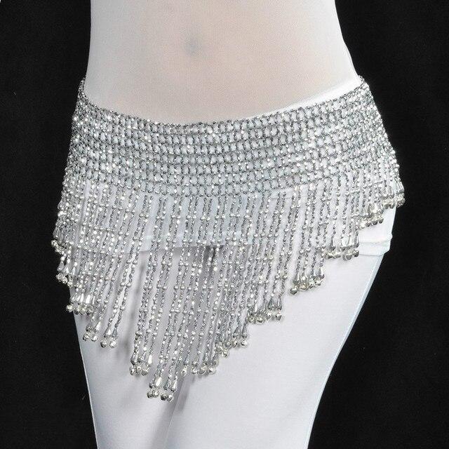 2 color bellydance danza del vientre cinturones de cadera bufanda ...
