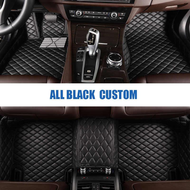 Esteras de suelo de coche personalizadas para Hyundai todos los modelos solaris ix35 30 25 Elantra MISTRA gransantafe alfombra de piso de estilo de coche