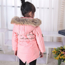 2019 Warm Thick Girls Winter Coat Brand Quality Children's Parkas Winter Jackets and Coats For Girls Clothing