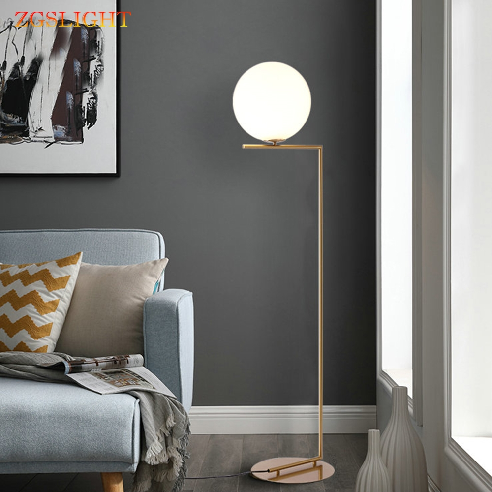 Nordic Design Postmodern Gold White Metal LED Tall Floor Lamp Stand Light With Table For Living Room Beauty Salon Free Shipping