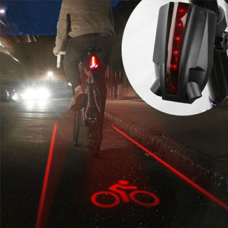2017 NEW Cycling Bike Bicycle Intelligent Laser Rear Light 5 LED Tail Wireless Brake Lamp ON SALE!! AL2207