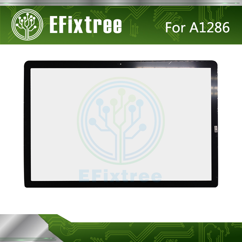 Full New A1286 Front Glass For Macbook Pro 15 A1286 Front LCD Glass Screen Panel With Adhesive 2009 2010 2011 2012 Year image