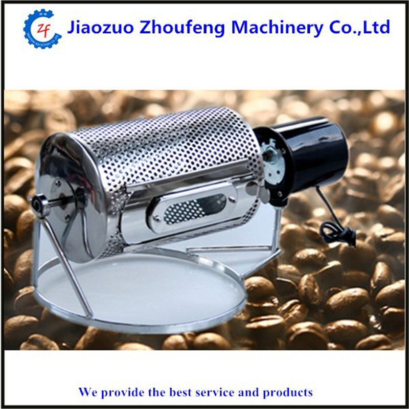 Small coffee roaster baking machine mini household coffee bean seed nuts roasting machines ZF coffee bean baking machine mini drum type home use peanut roasting machines cashew chestnut small roaster zf