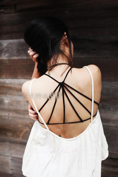 2018 Bustier Crop Tops Female Women Black White Summer Strappy Bra Halter Tank Top Sexy Backless Camisole Cheap Cropped Bralette diy crop top