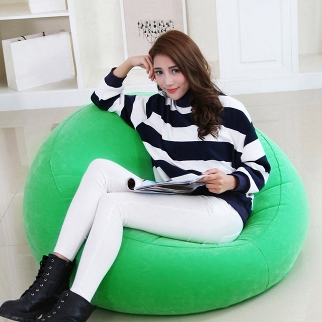 New Arrival Inflatable Sofa Living Room Furniture Lazy Bean Bag Chair Leisure Beanbag Corner Sofas Cozy Lounger Chair