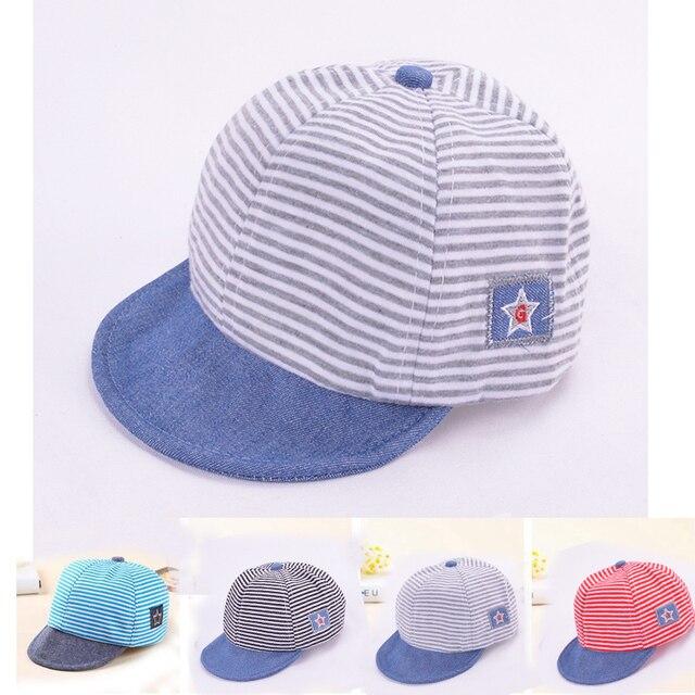 Algodón recién nacido prop sombrero gorras para niños suave rayas ...
