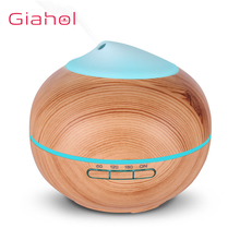 GIAHOL 200ml Air Humidifier essential oil diffuser Wood Grain Fresh Moistening LED Night Light Aroma For Home Office