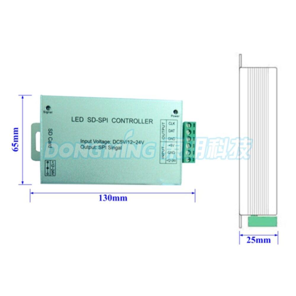 Contrôleur de carte SD DC5-24V contrôleur de Pixel rvb LED pour bande de pixels garantie 1 an contrôleur DMX WS2812/LPD8806 livraison gratuite