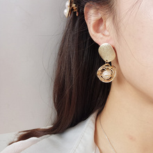 Fashion statement earrings 2018 ball Geometric For Women Hanging Dangle Earrings Drop Earing modern Jewelry