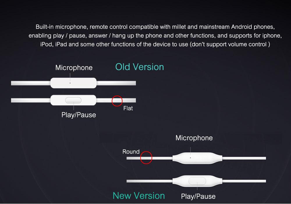 Mi Xiaomi Piston 3 Headphones In-Ear 3.5mm Colorful Headset Earphone With Mic Headset Basic Version Headphone Earphones (22