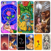 Beauty and the beast rosecell telefone capa case para huawei honor 3c 5a 4a 4x 4c 5×6 7 8 y6 y5 2 ii