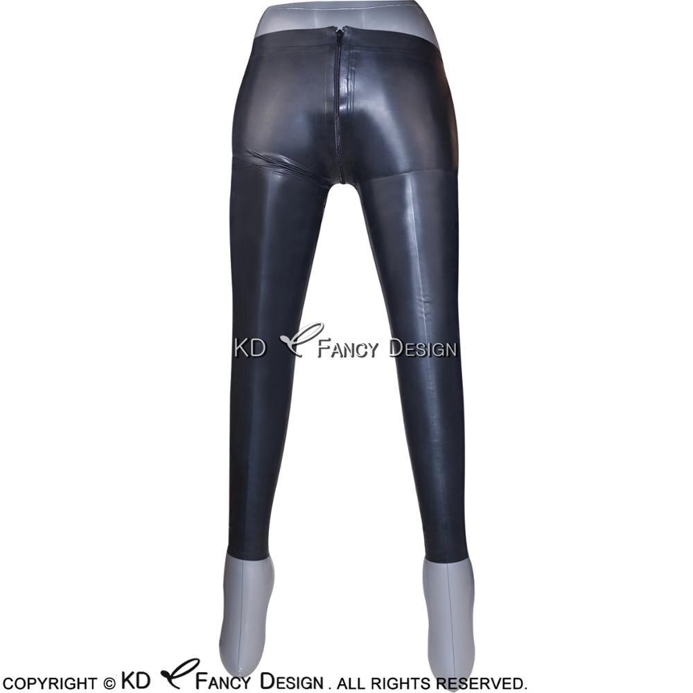 Новые стильные черные сексуальные леггинсы с перекрестной сеткой и высокой талией - 4