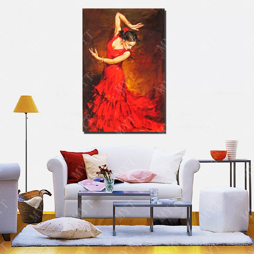 Great New Design Beautiful Dance Women Oil Painting Living Room Wall Pictures  Modern Canvas Wall Art Figure Painting No Framed In Painting U0026 Calligraphy  From Home ... Part 17
