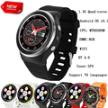 Android Relógio 3G WCDMA Quad-Core Android 5.1 8G ROM SmartWatch GPS Wi-fi 5.0MP HD Camera Pedômetro Freqüência Cardíaca Wearable Dispositivos
