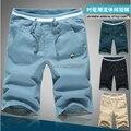 Personalidad de La Moda 2016 Nuevo Verano Fresco y Refrescante Pequeñas Setas Bordado Pantalones Casuales hombres Delgados Pantalones Cortos de Playa