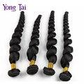Rosa produtos para o cabelo brasileiro solto aceno virgem cabelo 4 pcs lot cor # 1b do cabelo humano barato 100g pacote moderno show de cabelo onda solta