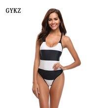 Купить с кэшбэком 2019 Summer Sexy Fashion Swimwear Women Sling Backless One Piece Bandage Push Up Monokini Bathing Suit Bikini Tropical Bodysuit
