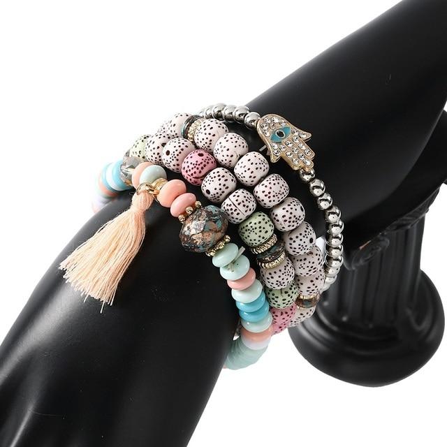 Multilayer Big Beads Bohemian Bracelet