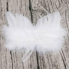 Szykowne wiszące skrzydło anioła z piórami dekoracja na choinkę Ornament ślubny