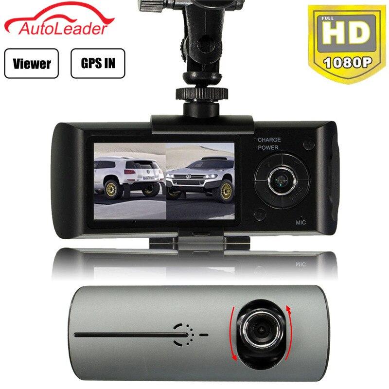 Dual Lens Car DVR Dash Camera with GPS G Sensor Camcorder 140 Degree Wide Angle 2