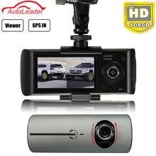 Buy Dual Lens Car DVR Dash Camera with GPS G-Sensor Camcorder 140 Degree Wide Angle 2.7inch Cam Video Digital Recorder