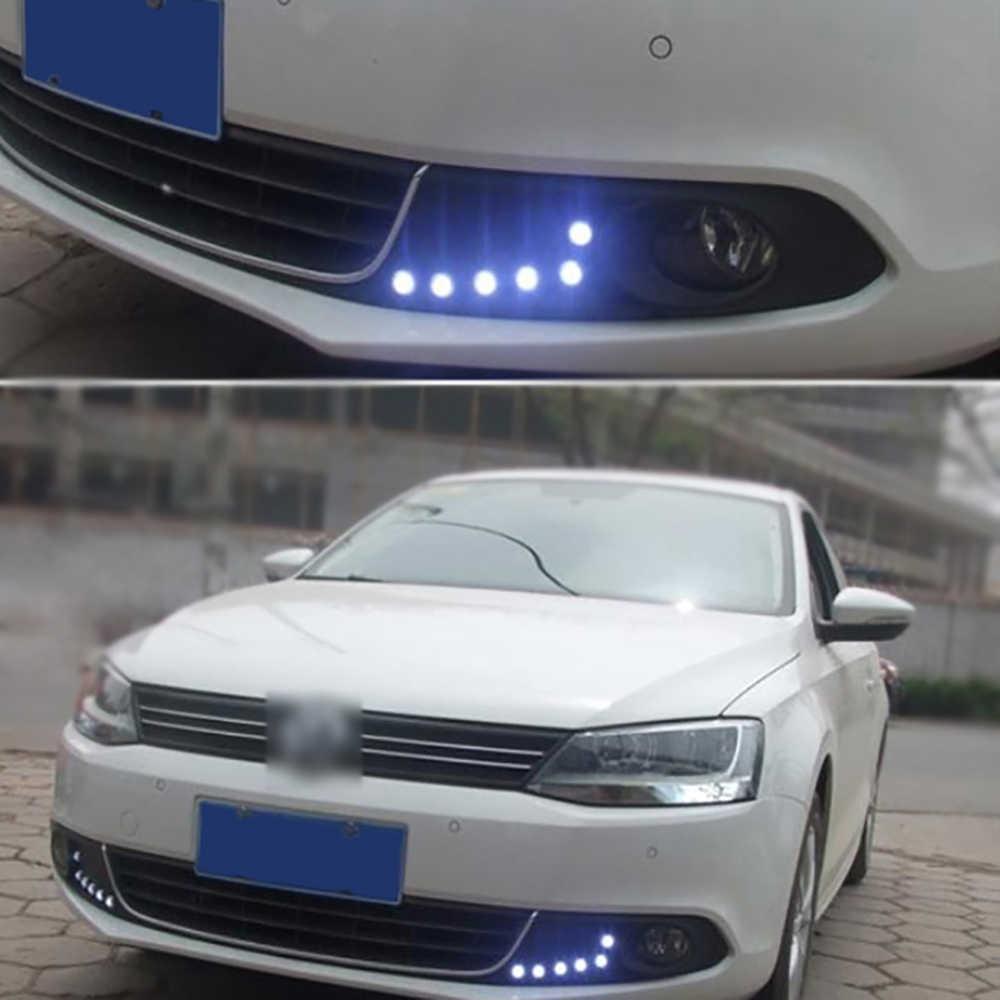 LEADTOPS 3 LED Mobil DRL Eagle Eye cahaya Styling Mobil DIY 2.3 Cm 500LM Waterproof Parkir Lampu Ekor DIPIMPIN Lampu Kerja Mobil Sumber AJ