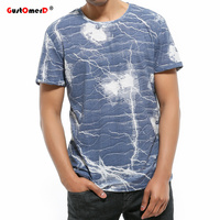 GustOmerD 2018 Summer Fashion Thunder Printed T Shirt Brand Clothing O Neck Short Sleeve T Shirt