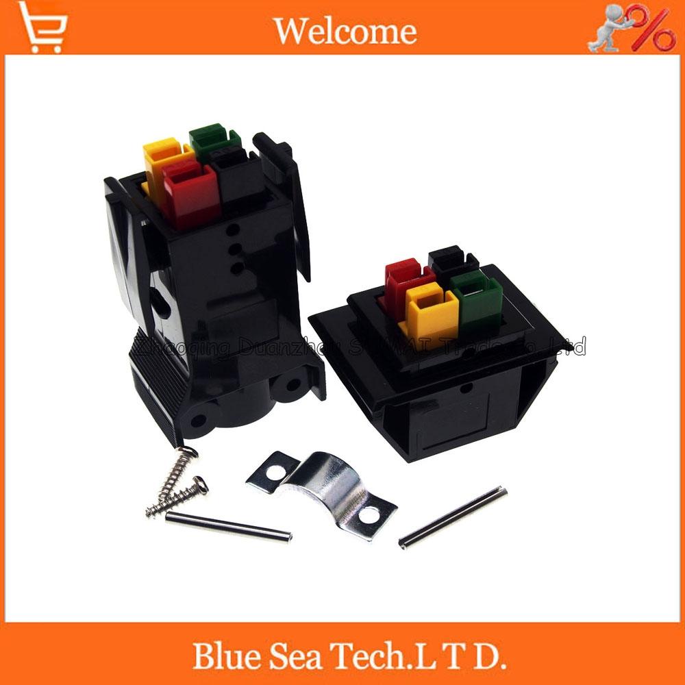 4 Pin/poles/wire New 30A 600V PCB Power Connector module Battery Plug socket kits,4 core UPS power module,color Mix 1 sets new 1pin 120a 600v power connector battery plug male