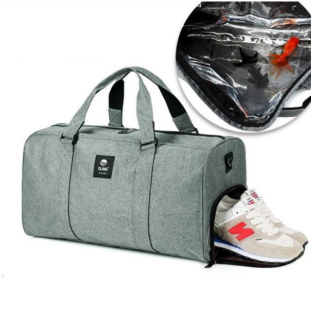 Сухая и влажная разделительная сумка для плавания супер водонепроницаемая оксфордская спортивная сумка для плавания спортивная сумка для ...