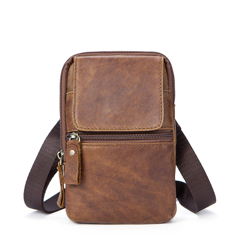 2018 Genuine Leather Bags Men High Quality Messenger Bags Small Travel Dark Brown Crossbody Shoulder Bag For Men hot 2018 genuine leather bags men high quality messenger bags small travel black crossbody shoulder bag for men li 1611