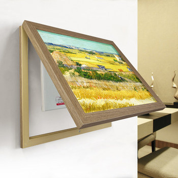 Meter box decorative painting distribution box cover flip electric box painting porch restaurant mural wall painting
