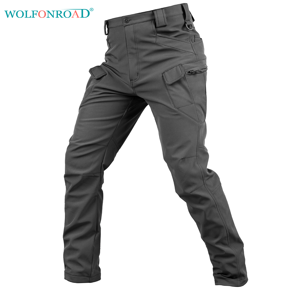 WOLFONROAD Soft Shell Men Trousers Waterproof Hiking Trousers Cargo Camouflage Tactical Pants Men's Outdoor Hunting Trousers pave hawk outdoor sports brand hiking pants men military tactical trousers hunting fishing trekking women waterproof cargo pant