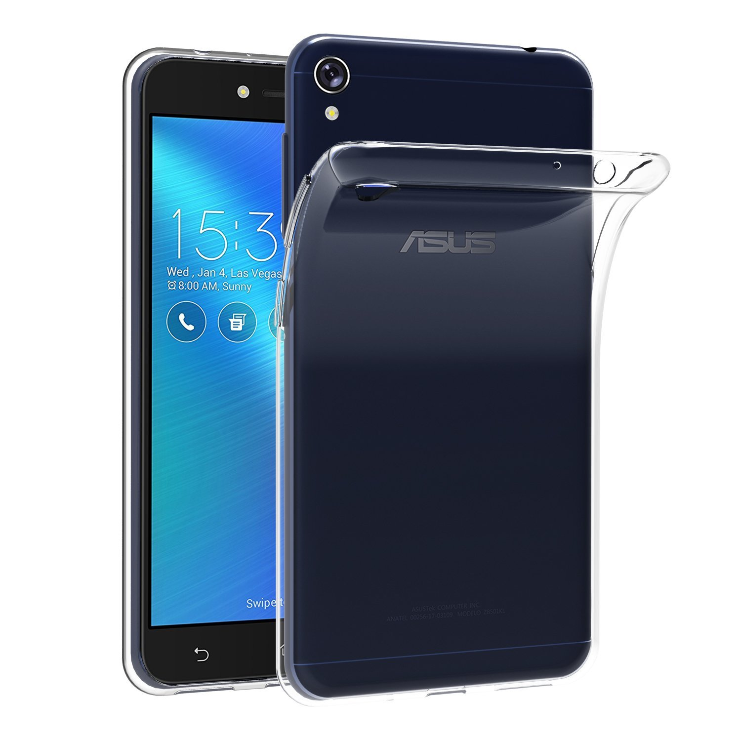 Transparent Case For Asus ZenFone Live ZB501KL (5.0)  Soft TPU Silicone Gel Clear Back Coque Case Cover For Asus ZenFone Live