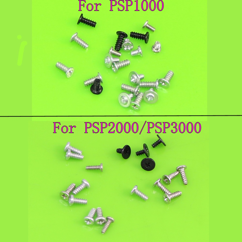 YuXi For PSP1000 Screws Full Screw Set Repair Parts for Sony PSP 1000 1001 2000 3000 repair parts replacement speakers for psp 1000 2 piece set