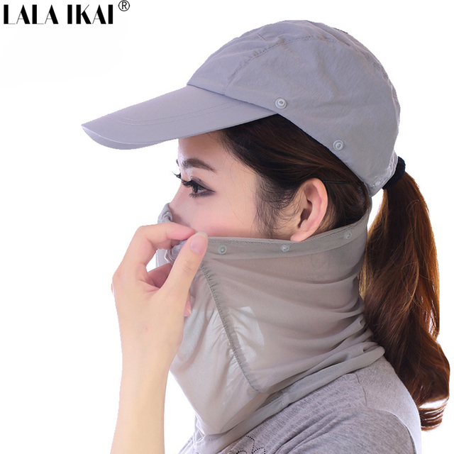 Women Fishing Cap UV Protection Face Neck Cover Sun Protect Fishing Hat  Hiking Visor Hat Fishing Sun Hats For Women YIM0061-5 8ec64c7f136