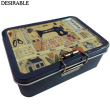 DESIRABLE Portable exquisite metal double-layer sewing card and other small item