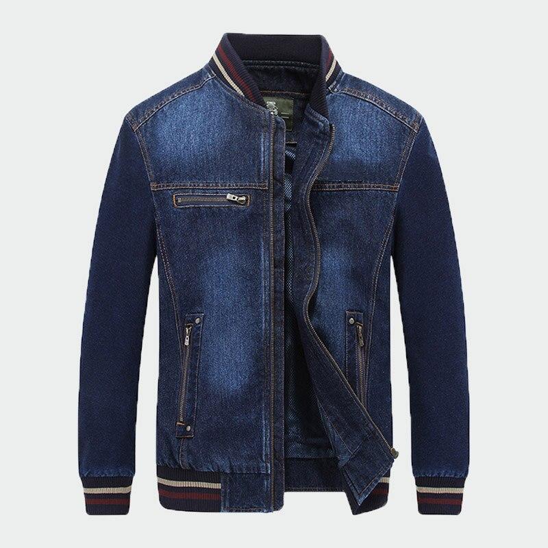 2019 nouveau homme mode denim veste hommes street wear col montant zipper décontracté hommes veste manteau jaqueta jeans masculina 4XL ML256