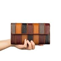 JMD JMDหนังแท้ยาวกระเป๋าผู้หญิงกระเป๋าสตางค์สำหรับสุภาพสตรีกระเป๋าคลัทช์3รุ่น8097-